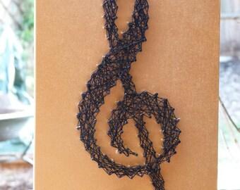TREBLE CLEF String Art.