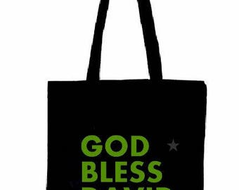 "Fabric Bag ""God bless David Bowie"""