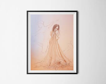 Home-made pastel hand-made ASCRIBED poster poster colorful decor drawing illustration gift idea