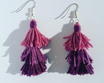 Purple Cascade Earrings