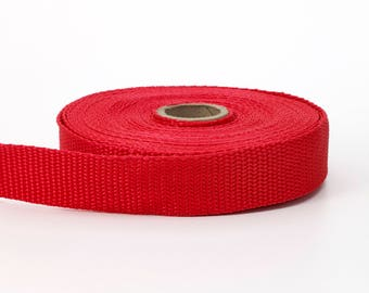 "Polypropylene webbing, 1"" Wide, 10 yds, Red"