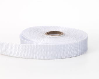 "Polypropylene webbing, 1.5"" Wide, 10 yds, White"