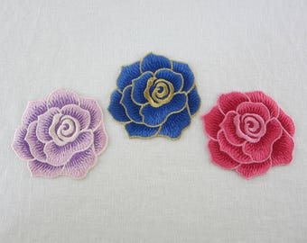 Flower Patch, Sew on Patch, Embroidered Applique