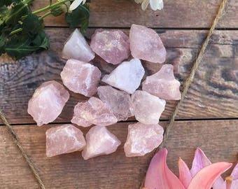 Rose Quartz raw Stone