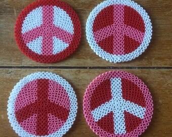 Set of 4 'Peace' Coasters