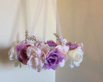 Floral Mobile | Baby Mobile | Flower Mobile | Purple Mobile