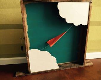 animated origami plane framework