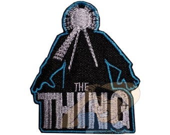 The Thing Poster Embroidered Patch John Carpenter Horror Movie