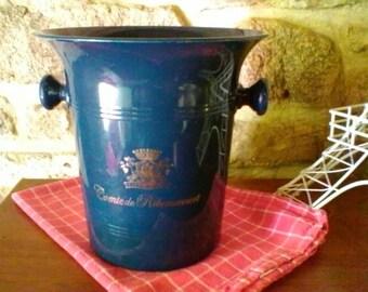Dark Blue Champagne Bucket -  French vintage cooler