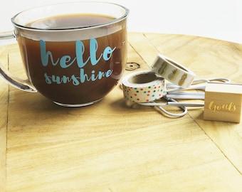Hello Sunshine Mug, Hello Sunshine, Coffee Mug, Sunshine, Mug, Sunshine Mug, Inspirational Mug, Mugs, Motivational Mugs, Quote Mug