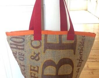 tote bag, coffee sack bag, jute bag