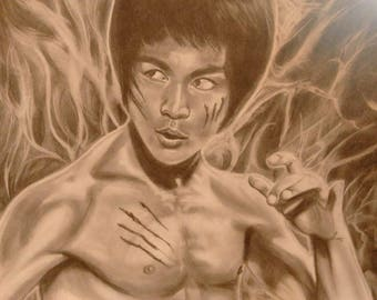 Bruce Lee original drawing