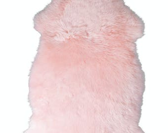 Lambskin Pink: fur carpet 80-90 cm Island lamb fur