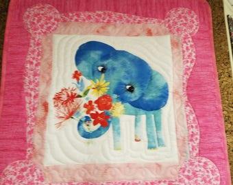 Pink Elephant quilt