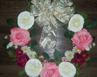 Ready to ship Mother's Day wreath, Birthday wreath, Welcoming Baby Girl. Any Occasion