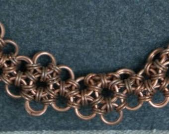 Bracelet copper flowers