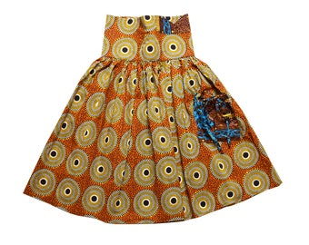 African Sian high waisted skirt.