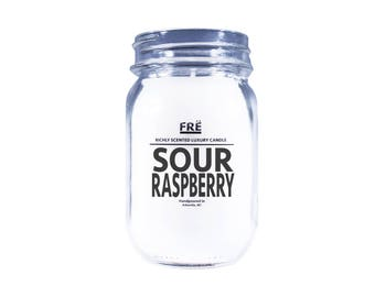 Sour Raspberry Scented Beer Candle