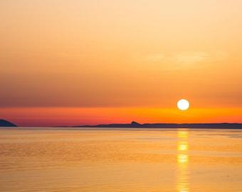 Sunset in Greece Fine Art Giclee Print, Santorini,Oia