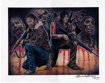 Original Walking Dead Drawing