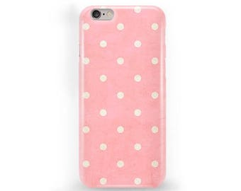Polkadot iPhone Case Pink Polkadot Phone Cover iPhone 7 Polkadot Case iPhone SE Polkadot Case Polkadot iPhone 6s Plus Case iPhone 5C Case