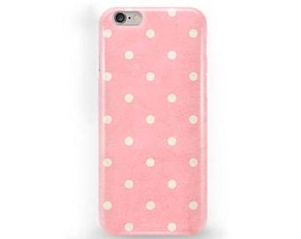 Polkadot iPhone Case Pink Polkadot Phone Cover iPhone 7 Polkadot Case iPhone SE Polkadot Case Polkadot iPhone 6s Plus Case iPhone 5C Case