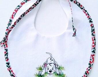 Hand painted bib Dalmatian