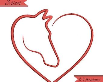 Horse love embroidery machine designs, wedding pattern,heart,merried
