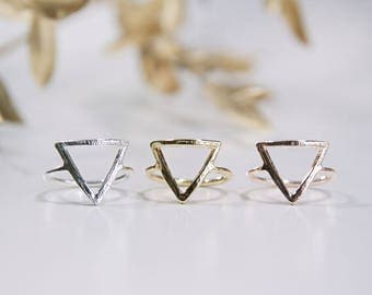 Triangle Ring Rose Gold / Gold / Silver