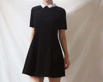 60s Style Peter-Pan Collar Dress, Small