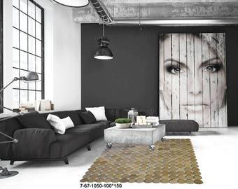 Modern Carpet Cowhide Rug7-67-1050-100*150
