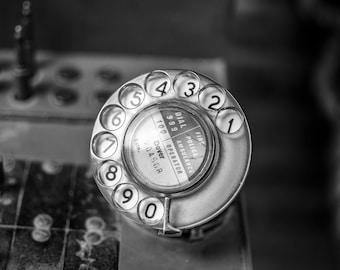 Old Rotary Phone Dial Vintage Retro British