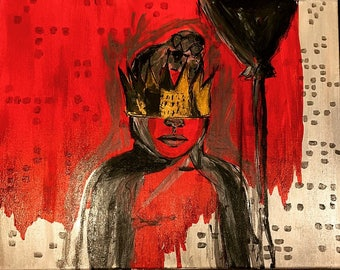 ANTI Rihanna album cover hand painted