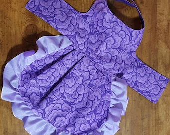 Purple Custom Design Harness Dress Small