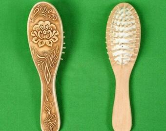Wooden comb. elm. handmade. Siberia. Russia
