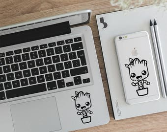 Baby Groot Sticker, Groot Laptop Decal, Im Groot, Groot Iphone, Guardians Of The Galaxy, Marvel Decal, Macbook Sticker, Laptop Decal, LD016