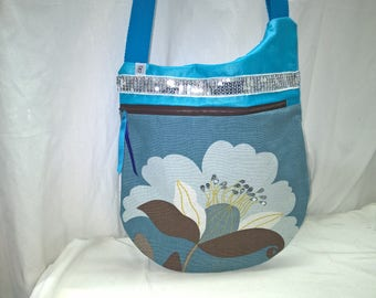 Turquoise blue Sling, creative art bag