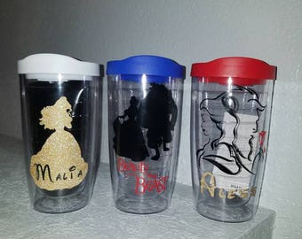 Beauty and the Beast Tumblers, Personalized Tumbler