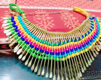 Colorful boho necklace