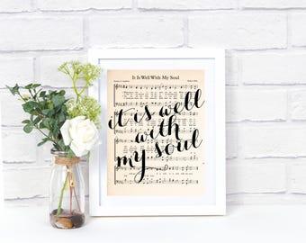 Printable Hymn Art - It Is Well