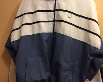 "Original Vintage Mens Lacoste Rare XXL Track Suite Top( ptp 48''-52"" Zip Fly)"