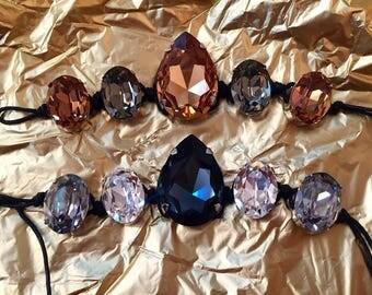 Bracelets with Swarovski crystal