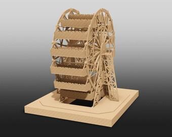 Lasercut Graphics Files of Ferris Wheel Display For Candies & Delis