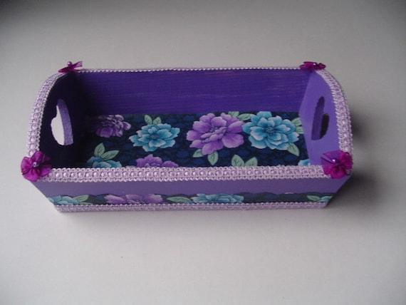 Jewelry traydesk tray fabric design girls gift dresser