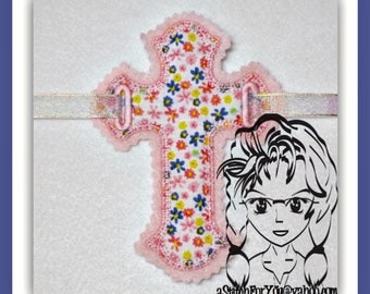 BANNER CRoSS Celebration Motif Edge Applique Border Motif Edge PeNNANT ~ In the Hoop ~ Downloadable DiGiTaL Machine Emb Design by Carrie