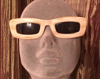 MOD Vintage 1960's BAKELITE Plastic FRENCH Frame Glasses, with Green Prescription Glass