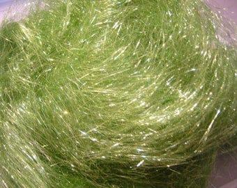 Brilliant Sea Green Angelina Spinning Fiber for Blending   Not Heat Fusible Fibers