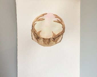 Original Watercolor - Full Buck Moon