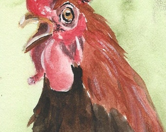 Aceo linen card stock prints of original painting each baseball card size choose 1