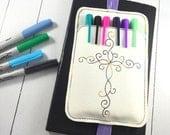 Pen Holder planner band - fun planner accessory - pen pocket band -best gifts for her - fits happy, erin condren, mambi, bullet journals